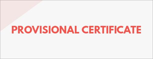 provisional certificate vessel